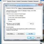 Internet Explorer Temporary Internet Files Window