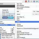 Google Chrome Internet Tools Menu Clear Browsing Data