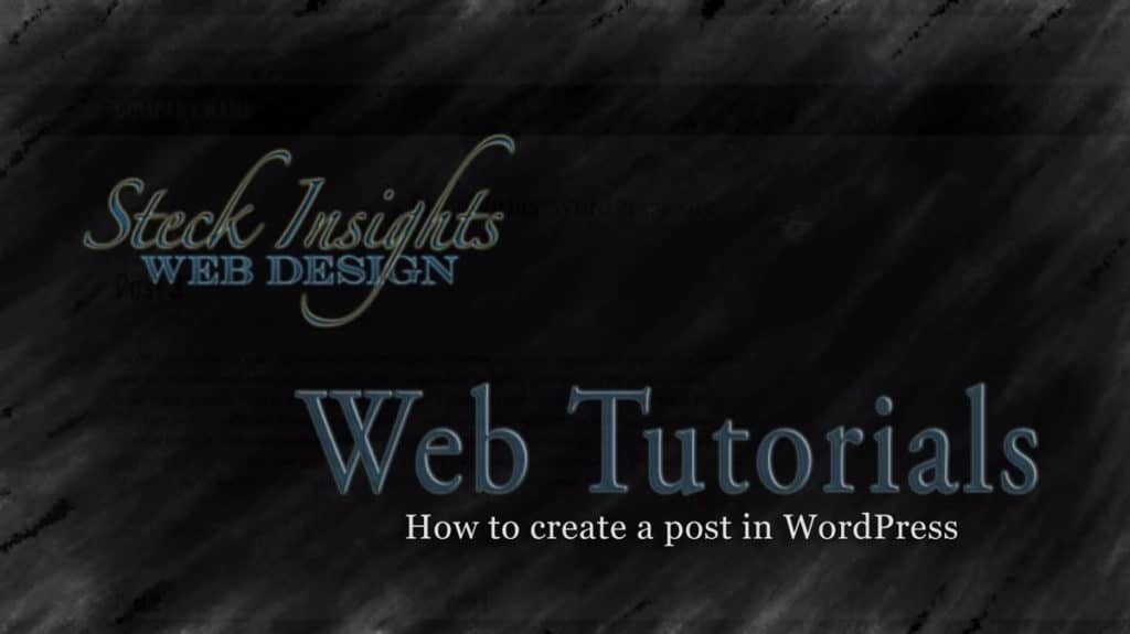 Video Tutorial on How to Create a Post in WordPress