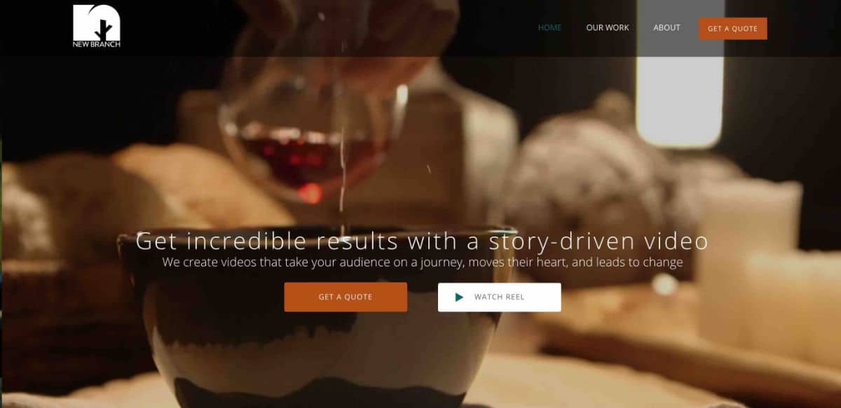 New Branch Films WordPress-Website Redesign Featured Image
