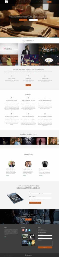 New Branch Films Clean Website Redesign